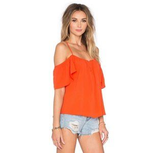 Lovers + Friends Off Shoulder Blouse top Red XS